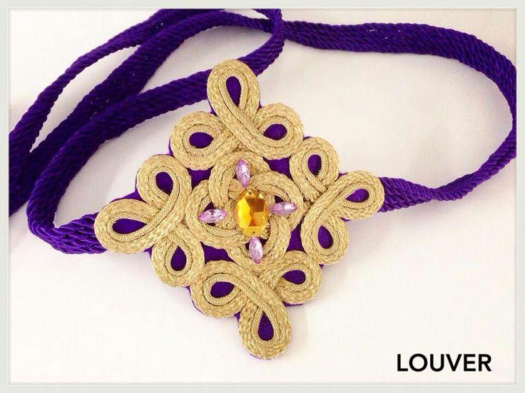 #louvermarbella#cinturon#complementos#pasamaneria#dorado#morado
