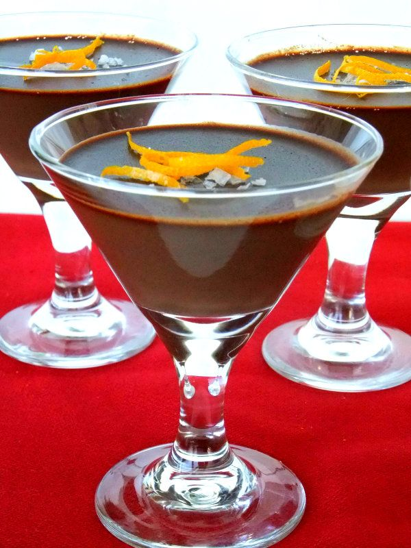 Deep Dark Chocolate Panna Cotta with Orange - Proud Italian Cook