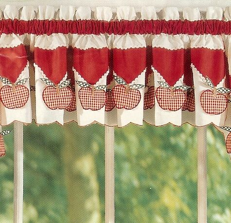 Ann 39 S Home Decor And More Country Red White Apple Jam Kitchen Curtains  With Apples
