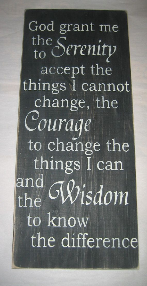 serenity prayer sign from etsy Shays favorite quote