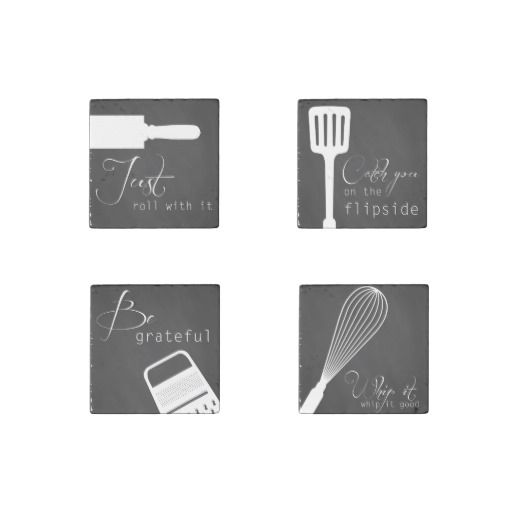 Set of 4 Kitchen Art Magnet