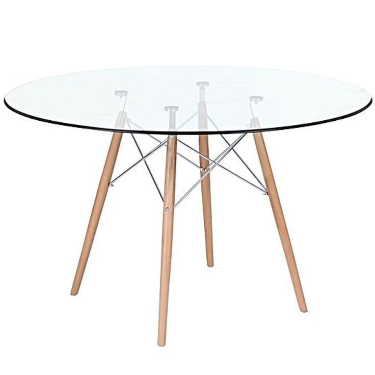 Las 25 mejores ideas sobre comedor eames en pinterest for Mesas de comedor cristal y madera