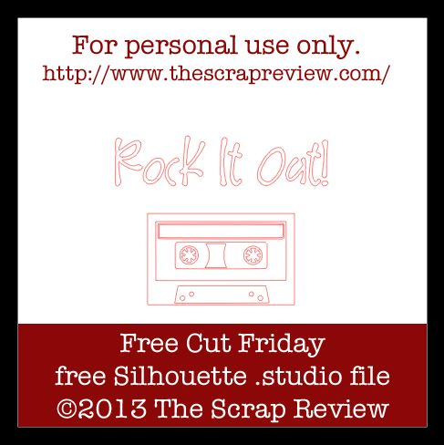 Free Cassette Tape cutting file, by Ashley Harris #Silhouette #CutFile
