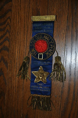 Order Sons of St George Pin Back Ribbon Past President Honi Soit Qui Maly Pense | eBay