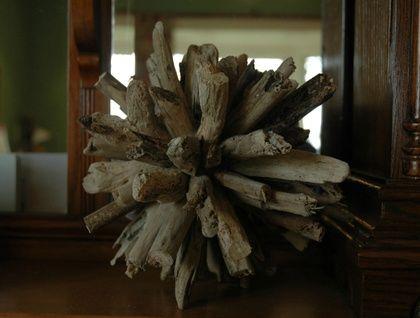 Driftwood orb -- 17.5cm or 19cm
