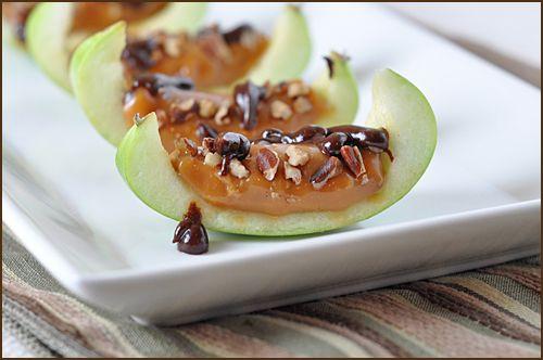 Inside out caramel appleDesserts, Insideout Caramel, Recipe, Sweets, Bites Size, Food, Apples Bites, Carmel Apples, Caramel Apples Slices