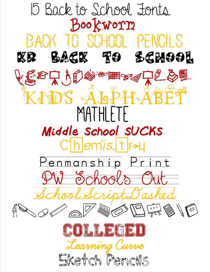 free fonts for school themed scrapbooking Google Search
