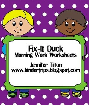 This packet includes 5 worksheets to use for morning work or center work.