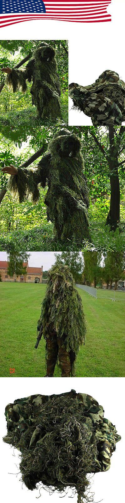 Ghillie Suits 177870: Set Camouflage Yowie Sniper Tactical Camo Suit Paintball Hunting Birding -> BUY IT NOW ONLY: $33.99 on eBay!