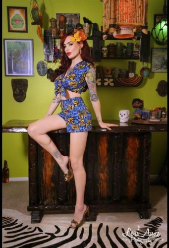 PLAYSUIT+Short+Top+Rockabilly+Tiki+Style+Pinup+50s+de ...