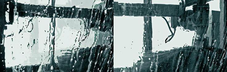 Pormenor da máquina automática de lavar automóveis.  Imagens por várias fotos: espectáculo de luz; redes de pesca; Sei Miguel com o seu trompete; Lavagem do carro; areia; Circuito da Boavista; CEAR - Miramar