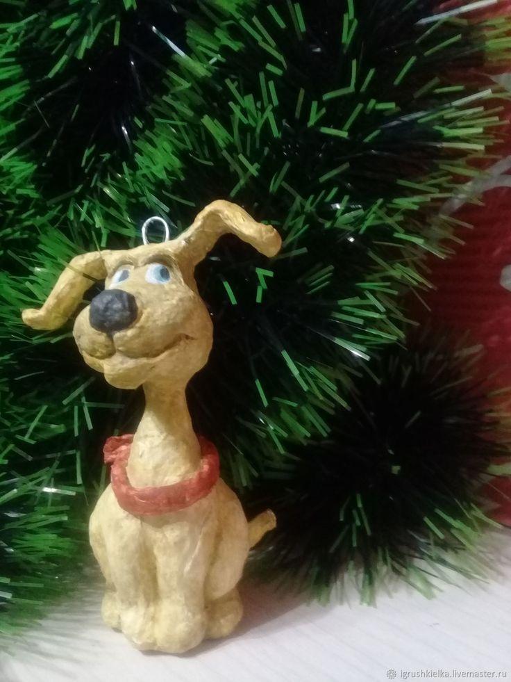"""Купить Игрушка на елку """"Веселый щенок"""" в интернет магазине на Ярмарке Мастеров"""