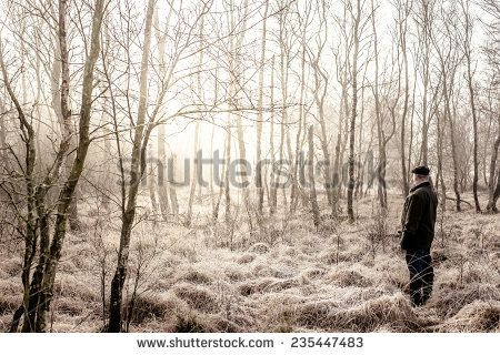 Man In A Winter Forest Lagerfoto 235447483 : Shutterstock