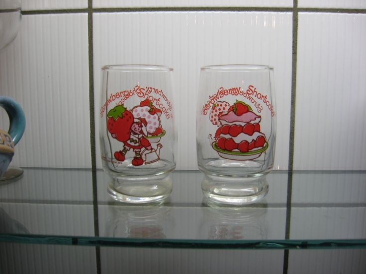 Vintage 80s Strawberry Shortcake juice glasses