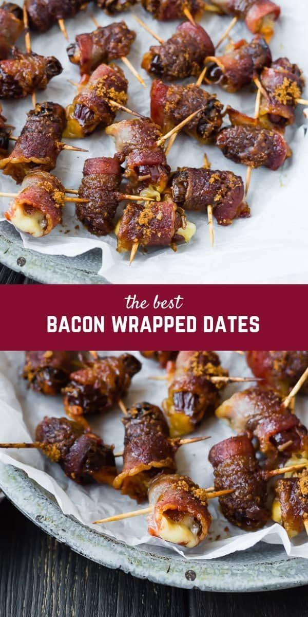 Bacon Wrapped Dates Recipe Recipe in 2020 Bacon