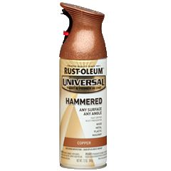 It's never been easier to bring a hand-hammered look to your all your projects. Rust-Oleum® Universal® Hammered Spray Paint is a paint and primer in one that provides superior coverage and durability on any surface and at any angle—with the unmatched comfort of our patented trigger technology.