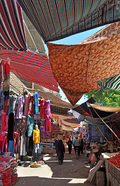 Luxor, Egypt: strolling along the souq (open-air market)