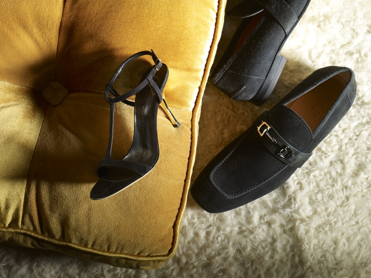 Elevate the evening with the Giuseppe Zanotti Strappy Suede Sandal and Gucci Men's Suede Loafer.  #dsw
