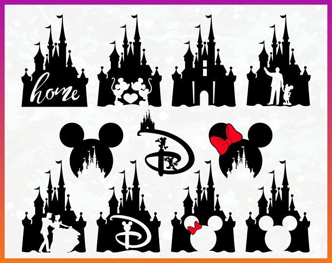 Disney Castle Svg Disney Svg Disney Shirt Svg Mickey Mouse Svg Etsy Disney Tattoos Disney Castle Outline Disney Silhouettes