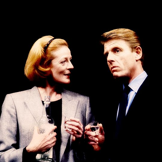Maggie Smith as Nadia, with Edward Fox as Viktor - Interpreters (1985)