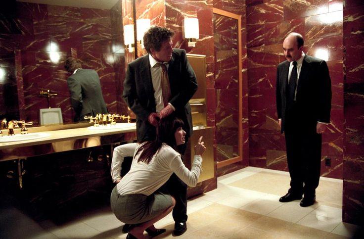 TWO WEEKS NOTICE, Sandra Bullock, Hugh Grant, David Haig, 2002 | Essential Film Stars, Hugh Grant http://gay-themed-films.com/film-stars-hugh-grant/