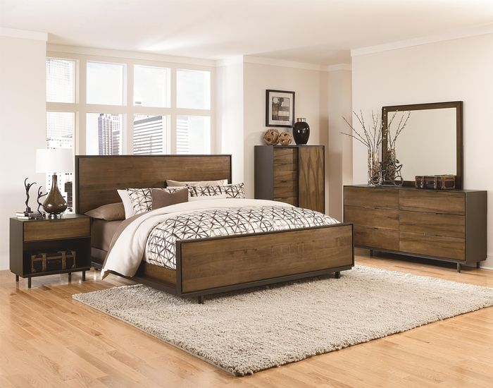 massivholzbett für guten schlaf, gemütliches schlafzimmer mit