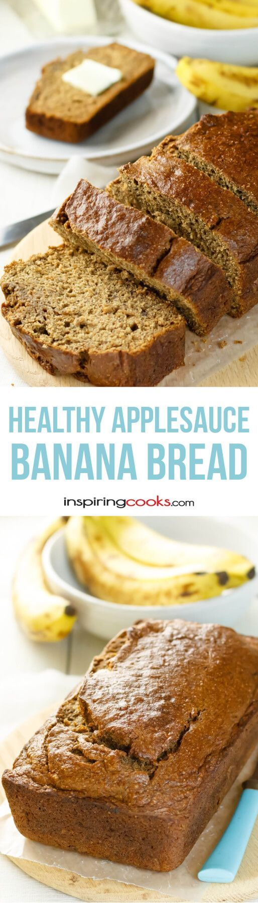 This banana bread with applesauce recipe was so easy - I can't wait to buy more bananas!