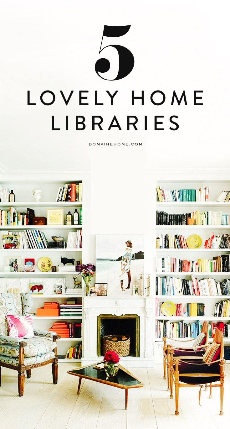 5 absolutely lovely home libraries