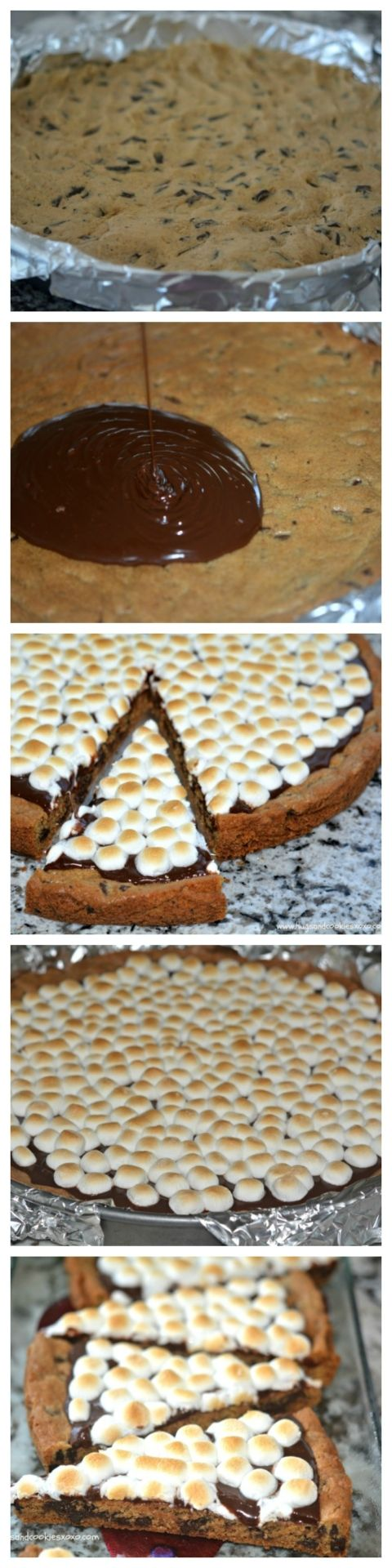 smores cookie cake pizza slices