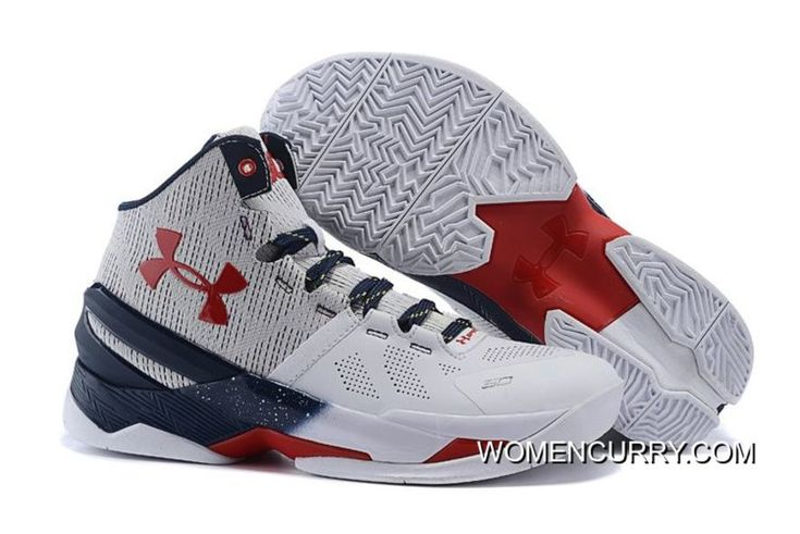 """https://www.womencurry.com/usa-under-armour-curry-2-whitered-navy-blue-sale-lastest.html """"USA"""" UNDER ARMOUR CURRY 2 WHITE-RED/NAVY BLUE SALE LASTEST Only $90.83 , Free Shipping!"""