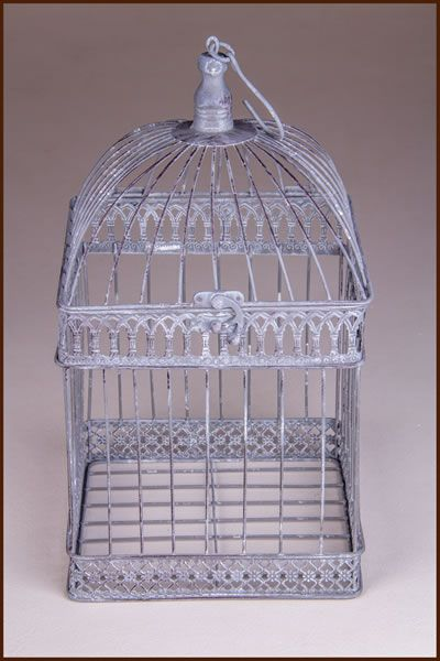 Garden and Home Decor Birdcage Square 13x13x27cm