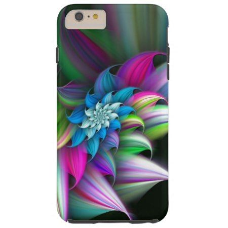 Stylish Pretty Colorful Girly Floral Abstract Art Tough iPhone 6 Plus Case - tap to personalize and get yours