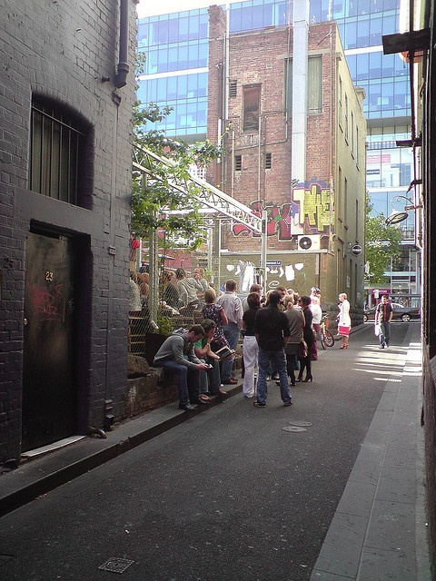 Queue at 6pm Friday - Section 8 Container Bar by avlxyz, via Flickr