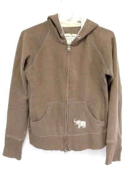 9.90$  Watch now - http://vinkh.justgood.pw/vig/item.php?t=n9imqv543380 - COCOA AUTHENTIC VINTAGE Women's Brown Zip Up Hooded Sweat Shirt Hoodie Size L