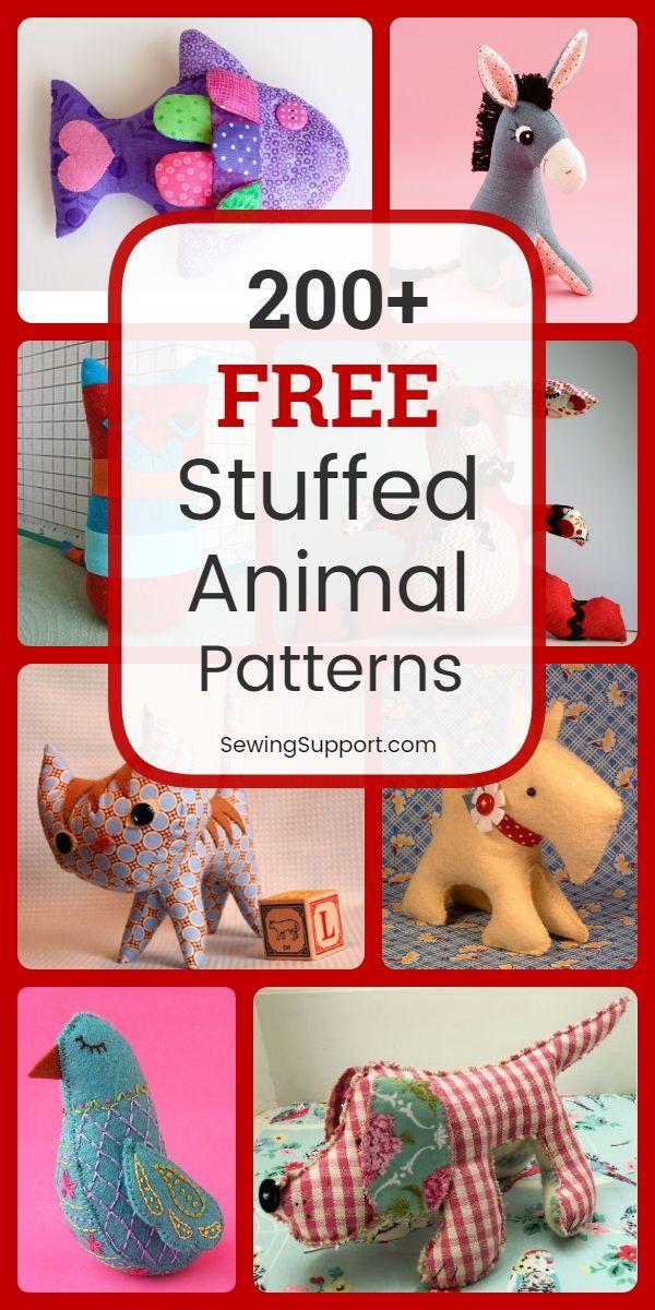 Over 280 free stuffed animal patterns   – Nähen