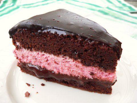 Suklaa-vadelmakakku - HerkkuKirppu - Vuodatus.net chocolate raspberry mousse cake