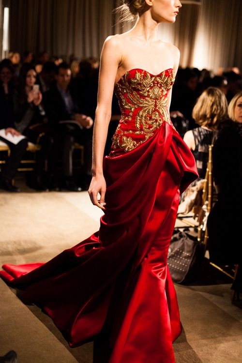 Image result for red gold brocade gown