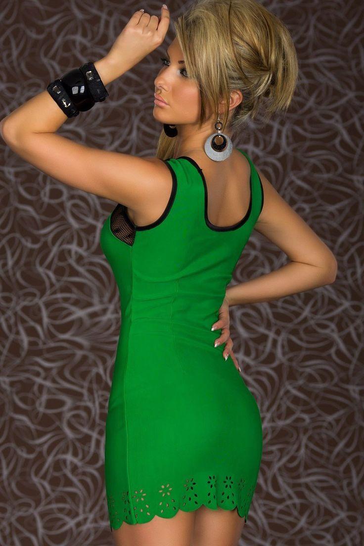 Trendy Sweetheart Bodycon Dress Green