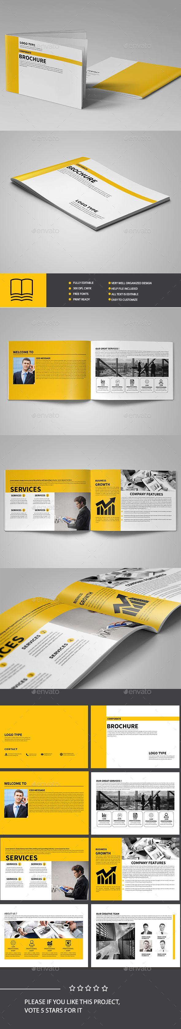 Corporate Brochure Template — InDesign Template