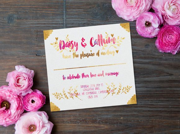 Pink and Foils Wedding Printables by Confetti Collective