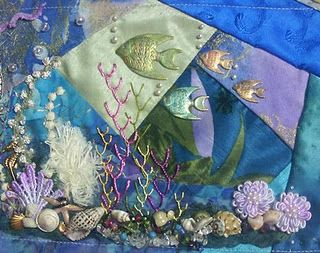 Pictorial crazy quilting