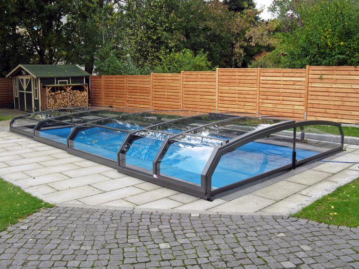 Bazén zakrytý krytem RIVIEA má několik výhod, například teplejší a čistší vodu v bazénu