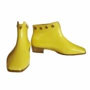 1960s Mary Quant yellow plastic rain boots