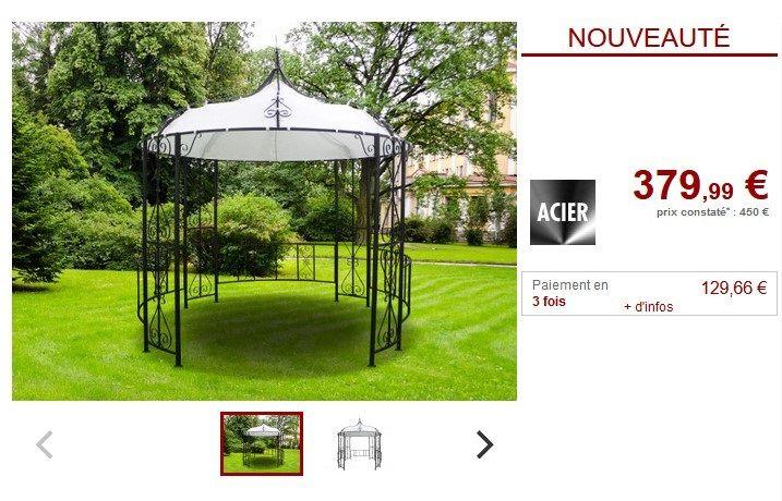Kiosque Tilcara Metal Facon Forge Toile Blanc Pas Cher Serre Veranda Vente Unique Ventes Pas Cher Com En 2020 Veranda Kiosque Tonnelle Jardin