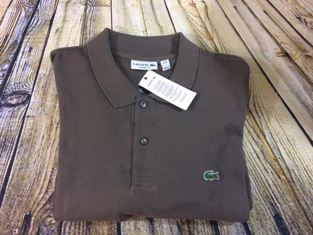 Lacoste Mens Brown Rugby Golf Short Sleeve Casual Polo Shirt Size 3XL $90 [A109]