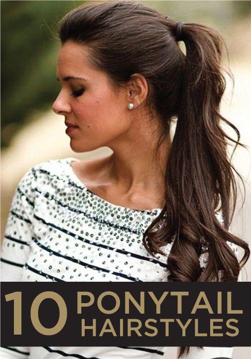 curly hair ponytail ideas