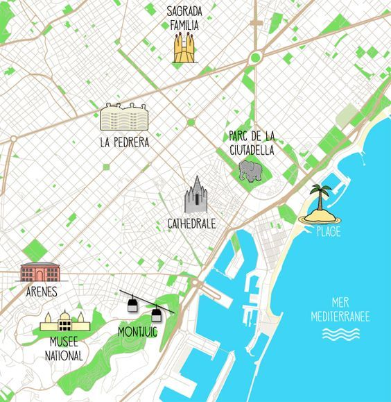 Carte Barcelone