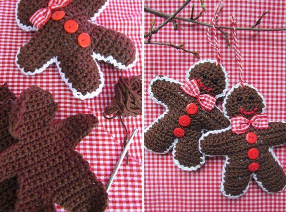 ao with <3 / Crochet GINGERBREAD MEN. By Handwerkjuffie.