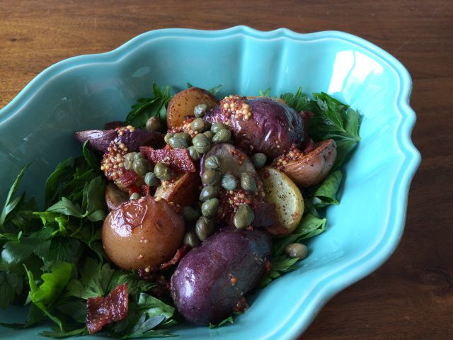 Simple Roasted Potato and Bacon Salad Recipe - The best potato salad you will ever eat!