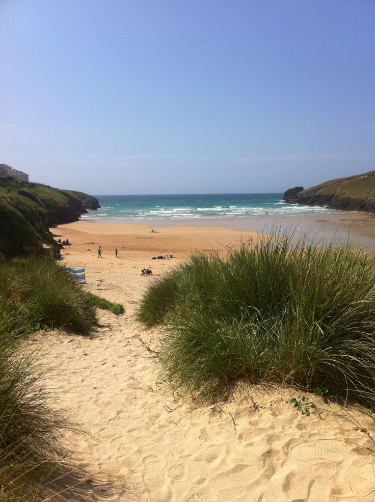 Porthcothan Beach, Cornwall...get away from everything. Great waves, golden sand, dunes...Not even a phone signal here :)